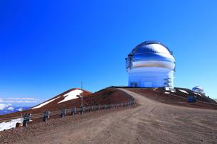 ハワイ島 マウナ・ケア山頂天文台群 ジェミニ天文台の写真素材 [FYI02861389]