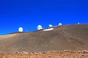 ハワイ島 マウナ・ケア山頂天文台群の写真素材 [FYI02861401]