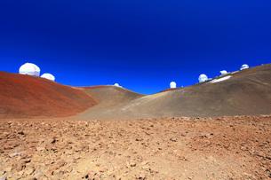 ハワイ島 マウナ・ケア山頂天文台群の写真素材 [FYI02861419]