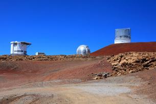 ハワイ島 マウナ・ケア山頂天文台群の写真素材 [FYI02861422]