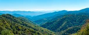 Blue Ridge Parkway in the Great Smoky Mountains Nationalの写真素材 [FYI02861437]