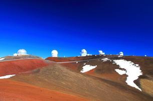 ハワイ島 マウナ・ケア山頂天文台群の写真素材 [FYI02861487]