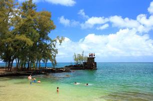 ハワイ島ヒロのココナッツアイランドの写真素材 [FYI02861678]