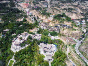 aerial photography of Lanzhou cityの写真素材 [FYI02861817]