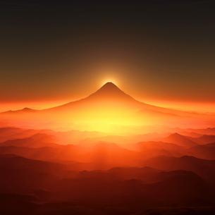 富士山の日の出のイラスト素材 [FYI02866404]