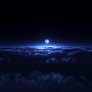 夜空と雲海の写真素材 [FYI02866412]