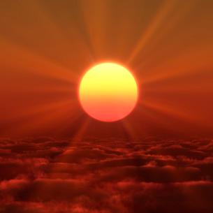 日の出の写真素材 [FYI02866415]