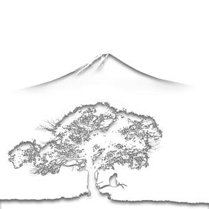 富士山と猿のイラスト素材 [FYI02866423]