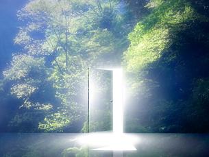 光が射し込むドアの写真素材 [FYI02866433]