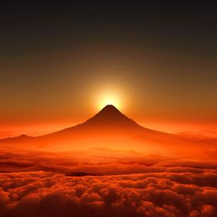 富士山の日の出のイラスト素材 [FYI02866439]