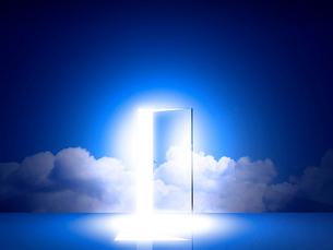 光が差し込むドアのイラスト素材 [FYI02866495]