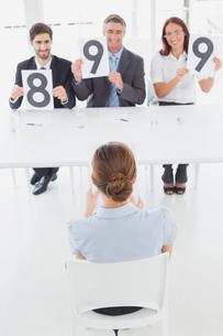 Businesswoman getting her interview ratingの写真素材 [FYI02877910]
