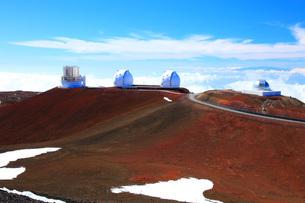 ハワイ島 マウナ・ケア山頂天文台群の写真素材 [FYI02880465]