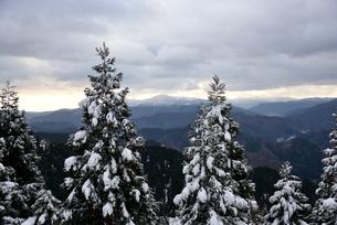 雪の山頂の写真素材 [FYI02893631]