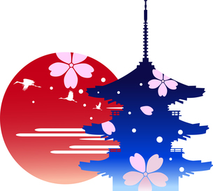 日本の観光イメージのイラスト素材 [FYI02895938]