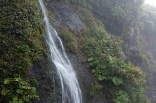 岩肌を流れる滝の写真素材 [FYI02896044]