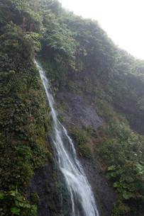 岩肌を流れる滝の写真素材 [FYI02896045]