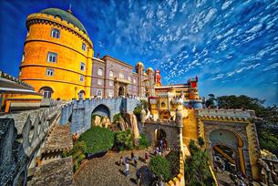 ペーナ宮殿 ポルトガル 世界遺産シントラの写真素材 [FYI02896059]