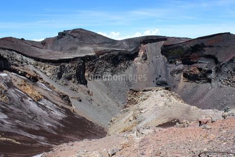 《御鉢巡り》噴火口を眺めるの写真素材 [FYI02902351]