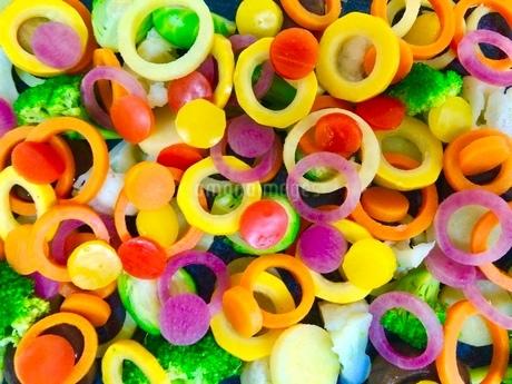 カラフルな野菜の写真素材 [FYI02904471]
