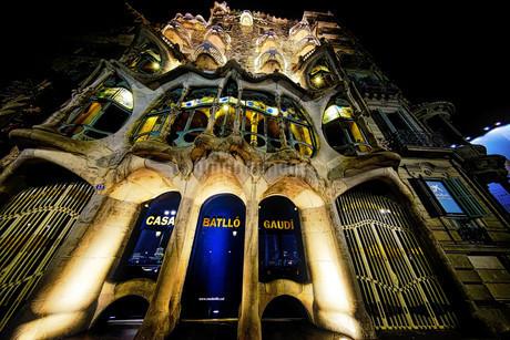 バルセロナ 世界遺産カサ・バトリョの写真素材 [FYI02906431]