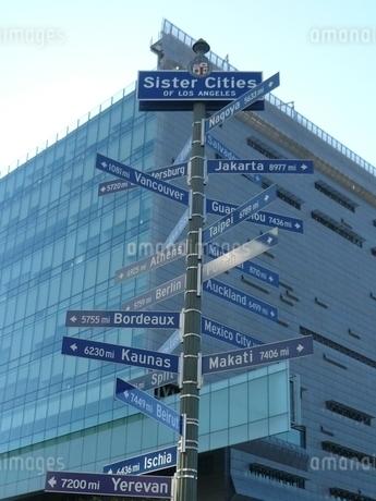 《平和への道標》世界のL.A.姉妹都市の写真素材 [FYI02906439]