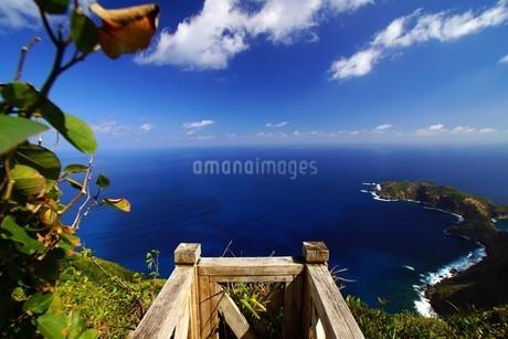 母島 乳房山展望台(標高462m)からの眺めの写真素材 [FYI02914987]