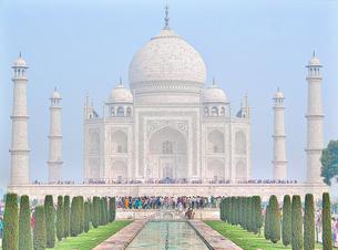 タージマハル インド 正面の写真素材 [FYI02917434]