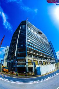 横浜みなとみらいの工事中のビルの写真素材 [FYI02917529]