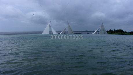 テントデッキと海の写真素材 [FYI02919773]