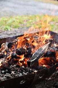 キャンプの焚火の写真素材 [FYI02921958]