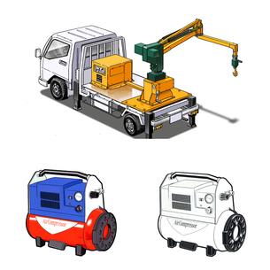 クレーントラックとポンプのイラスト素材 [FYI02922196]