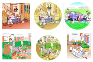 家族の生活のイラスト素材 [FYI02922200]