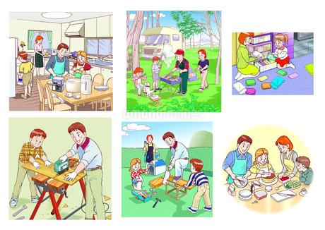 家族のライフスタイルのイラスト素材 [FYI02922201]