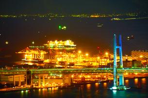 ランドマークタワーからの横浜夜景の写真素材 [FYI02922639]