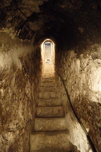 ブラン城内の秘密の階段の写真素材 [FYI02923103]