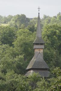 木造の教会の写真素材 [FYI02923128]