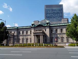 日本銀行大阪支店の正面の写真素材 [FYI02923602]