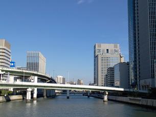 田蓑橋から見る堂島川の写真素材 [FYI02923661]