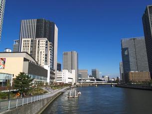 堂島リバーフォーラム前の船着場の写真素材 [FYI02923674]