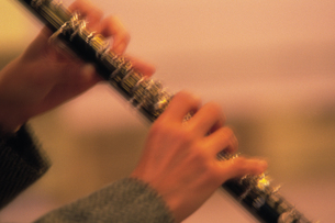 クラリネット奏者の手元の写真素材 [FYI02924041]