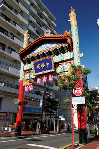 朱雀門(南門) 中華街の写真素材 [FYI02926459]