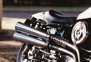 オートバイのマフラーの写真素材 [FYI02926588]