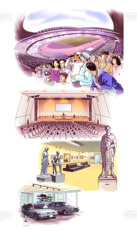 競技場 会場 美術館 展示場のイラスト素材 [FYI02926868]