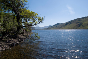 光る湖と青空の写真素材 [FYI02927675]