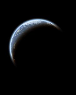 地球のシルエットのイラスト素材 [FYI02927753]