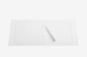 原稿用紙に白い万年筆の写真素材 [FYI02927754]