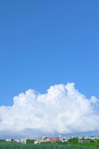 青空と住宅地の写真素材 [FYI02927903]