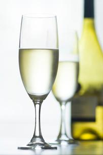 グラスに入った白ワインの写真素材 [FYI02927948]