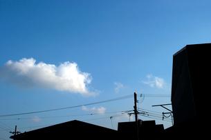 雲と街並の写真素材 [FYI02928064]